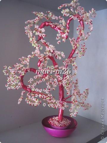 Валентинки деревья из бисера