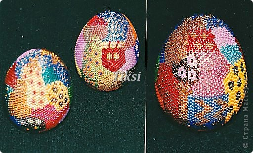 Пасхальное яйцо Шапка Мономаха.Бисер,бирюза,янтарь,бусины.  25.