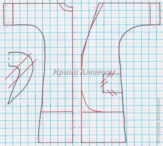 Мастер-класс Вырезание Шитьё Одежда для кукол выкройка Бумага Кружево Нитки Пуговицы Ткань фото 6