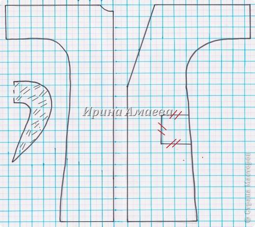 Мастер-класс Вырезание Шитьё Одежда для кукол выкройка Бумага Кружево Нитки Пуговицы Ткань фото 10