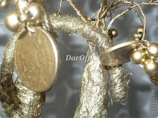 Денежное дерево и открытка. Габариты изделия: Дерево - 25*13 Открытка - 26*15 фото 4