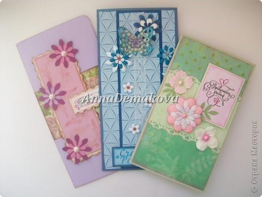 Девочки, я опять со своими открытками.  Представляю вам   новые открыточки к самому весеннему празднику - 8-е марта. Надеюсь, они вам понравятся. фото 1