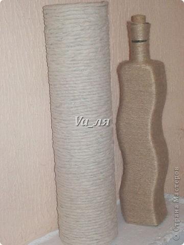 Ваза - декор джутовая верёвка фото 4