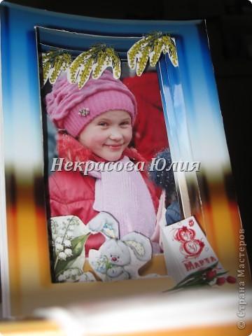 Делали с сыном в подарок девочке на 8 марта я придумала дизайн и распечатала заготовки Юра вырезал я собрала фото 4