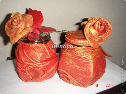 Напольная ваза,обтянута кожей фото 4