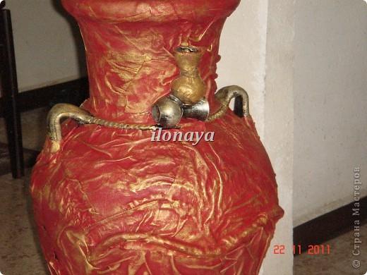 Напольная ваза,обтянута кожей фото 2