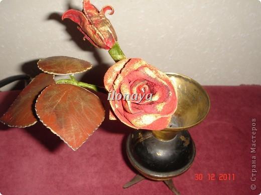 Напольная ваза,обтянута кожей фото 3