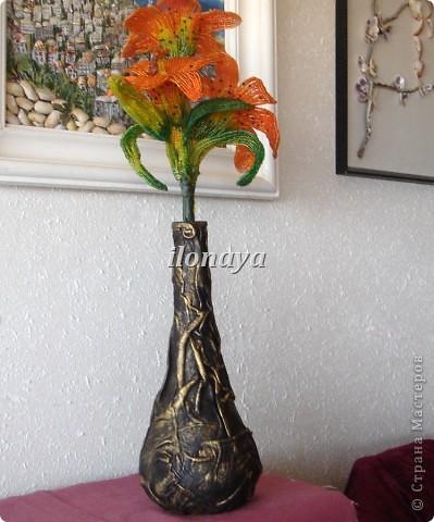 Напольная ваза,обтянута кожей фото 11