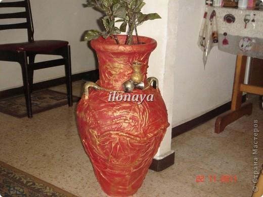 Напольная ваза,обтянута кожей фото 1