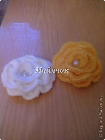 Вот такие симпатичные розочки у меня получились. МК Юлии Заброда www.stranamasterov.ru/node/309544?tid=451%2C858