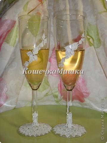 Первые бокалы на свадьбу фото 2