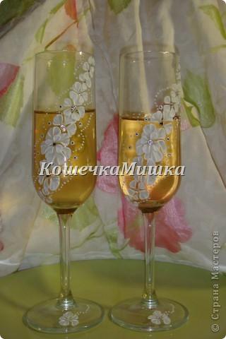 Первые бокалы на свадьбу фото 3