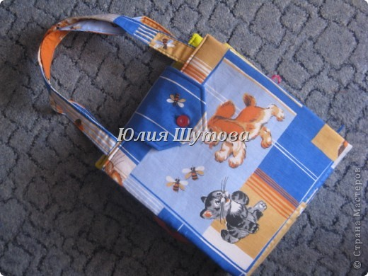 Эту игрушку шила на заказ для маленькой девочки.Так выглядит сумка снаружи.Далее расскажу и покажу,что внутри. фото 1