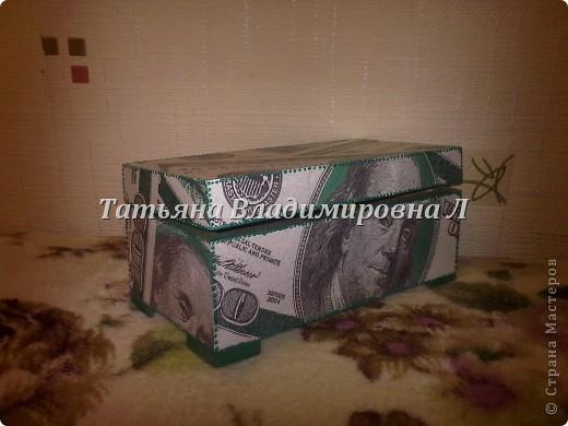 """Шкатулка """"Доллар"""" фото 2"""