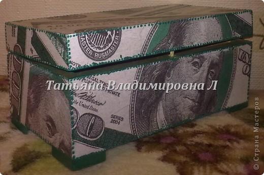"""Шкатулка """"Доллар"""" фото 1"""