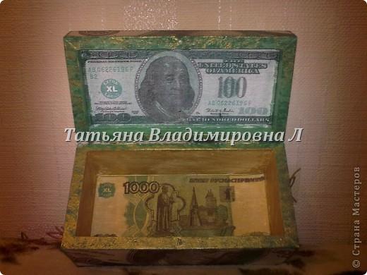 """Шкатулка """"Доллар"""" фото 4"""