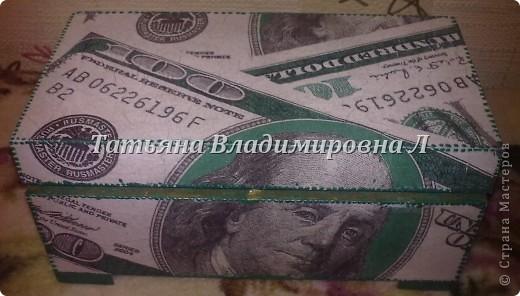 """Шкатулка """"Доллар"""" фото 3"""