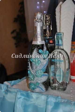 """Бокальчики были сделаны к """"Подсолнуховой """" свадьбе. Аж отдавать было жалко. Фото бутылки жалко нет(( Она тоже была с подсолнухами) фото 2"""