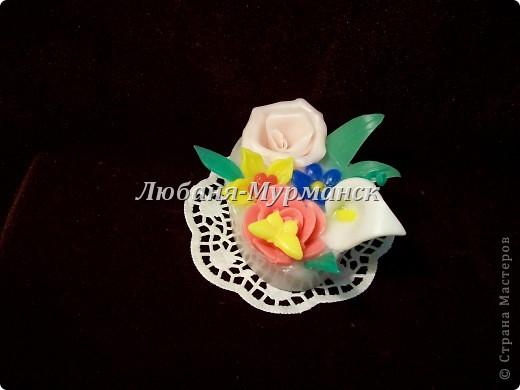 Букетик цветов (собрала остаточки по одному цветочку и вот - букетик) фото 2