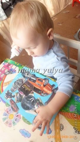 сынуле исполнилось 2 года, решила дать ему в руки клей и бумагу....вот что у нас получилось... фото 4