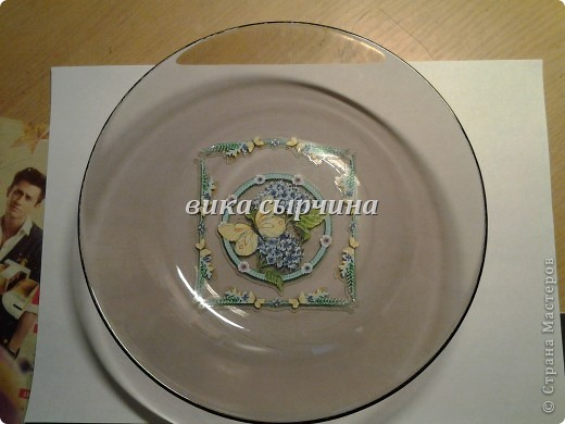сегодня мы будем делать вот такую тарелку! фото 1