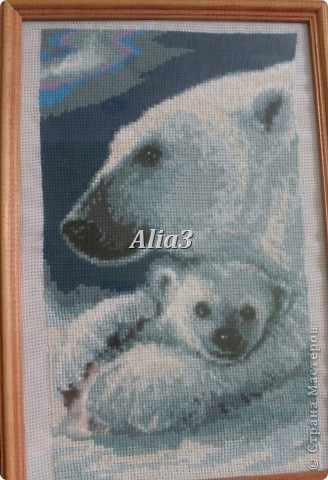 "Вышивка ""Белый медведь""."