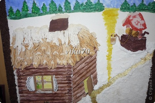 Это панно было изготовлено родителями совместно с детьми моего класса для новогодней выставки, где и заняло  почетное 1 место фото 3