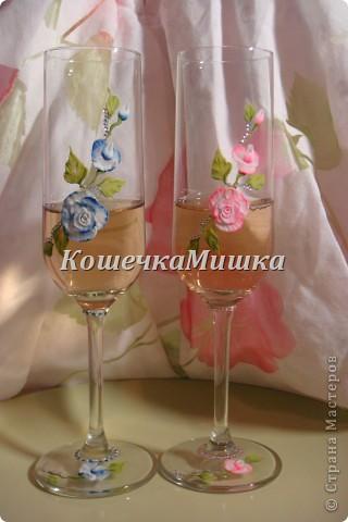 Первые бокалы на свадьбу фото 4