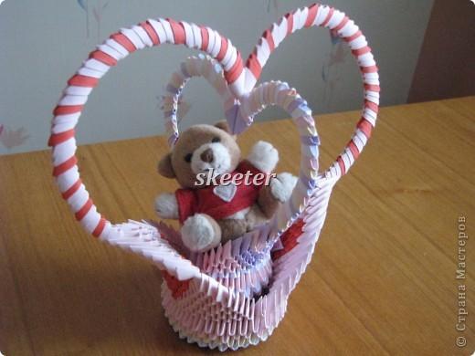 Вот такую вот поделаку я сделала на День Святого Валентина. Кстати, это была моя первая работа =) фото 1