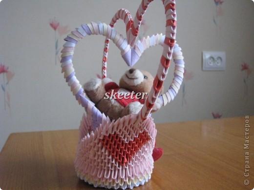 Вот такую вот поделаку я сделала на День Святого Валентина. Кстати, это была моя первая работа =) фото 2