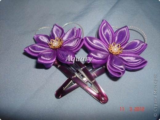 Цветы канзаши фото 3