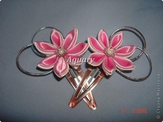 Цветы канзаши фото 8