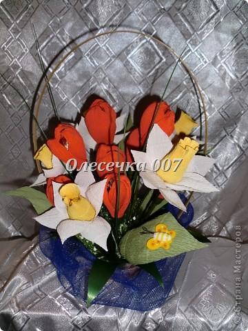 Тюльпаны с нарцисами фото 1