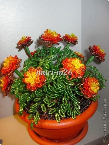 бисероплетение цветы из