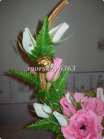 Розовая корзинка фото 2
