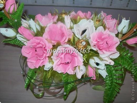 Розовая корзинка фото 3