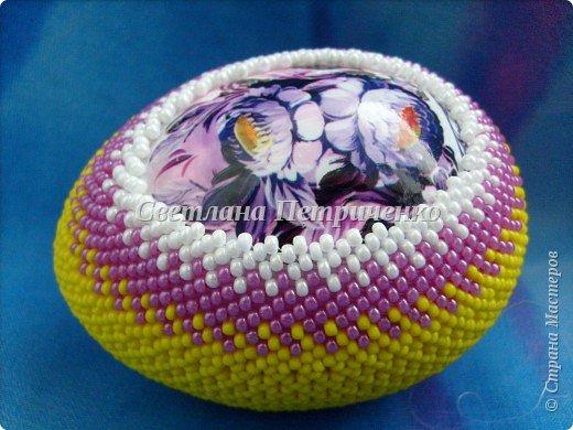 Мастер-класс Поделка изделие Пасха Бисероплетение МК яйцо оплетенное бисером Бисер фото 20