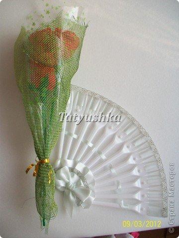 Попробуем сделать простой веер из пластмассовых      одноразовых вилок. фото 39