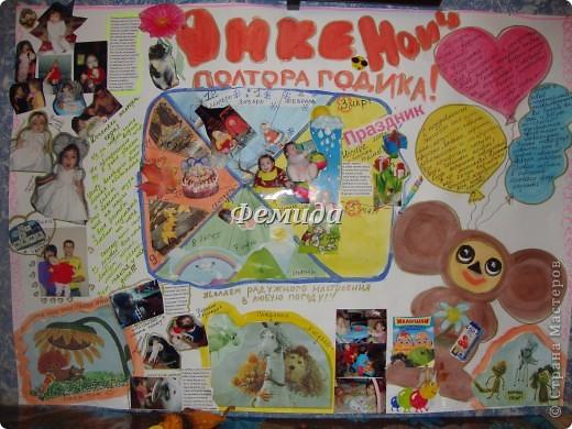 Плакат из оберток на день рождения своими руками