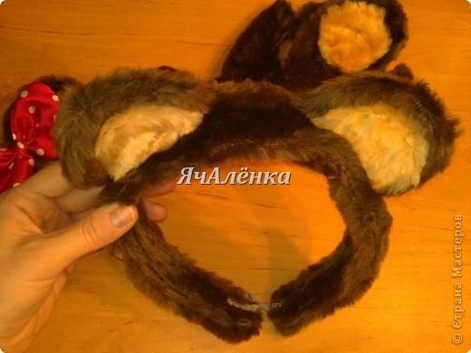 Сделать ушки мышки на ободке