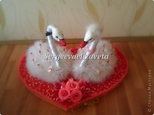 Лебеди из конфет фото 1
