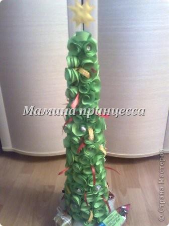 Ёлка из спиральных розочек - видела на http://stranamasterov.ru/node/290288  фото 1