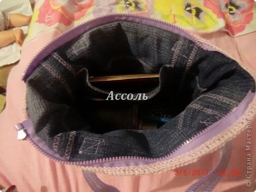 Вот и я решилась поучаствовать в розыгрыше Презента))) Принимайте мою сумочку! Связала ее в пару к сиреневому топу, теми же квадратными мотивами. Участвую в конкурсе фотографий. фото 8
