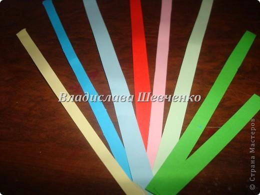 Берем полосочки по цвету как показано на фото фото 1