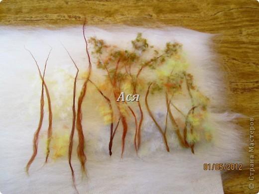 Мастер класс по сухому валянию картин из шерсти цветы