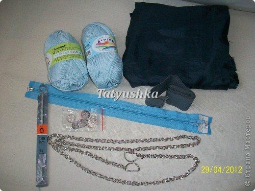 Летняя вязаная сумочка фото 3