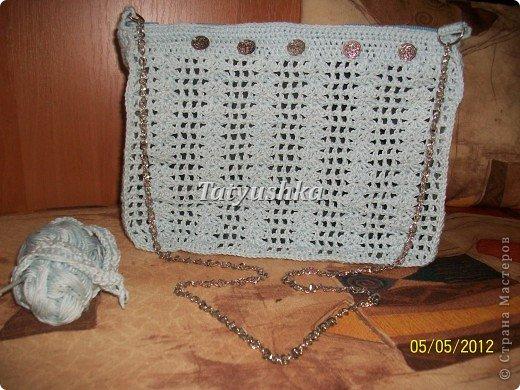 Летняя вязаная сумочка фото 1