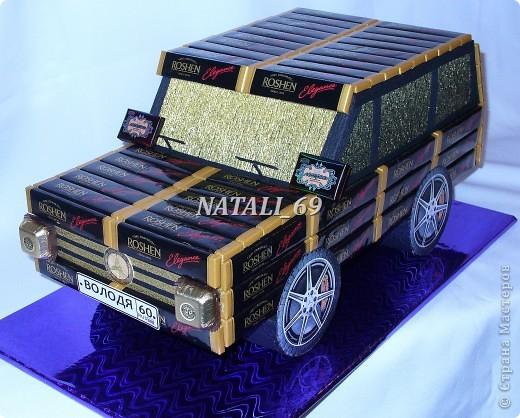 Машина сделана на заказ, ко Дню рождения.  Мужчине исполняется 60 лет.  Его мечта - новый автомобиль.  Супруга решила, что пока этот :), а к лету можно и настоящий приобрести (побольше:))) фото 3