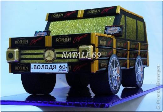 Машина сделана на заказ, ко Дню рождения.  Мужчине исполняется 60 лет.  Его мечта - новый автомобиль.  Супруга решила, что пока этот :), а к лету можно и настоящий приобрести (побольше:))) фото 1