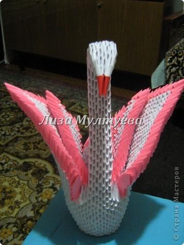 Лебедь. Модульное оригами. Спасибо за МК iv.olga.